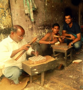 Gagan with Block making artisans Sanganer ELEMENTS